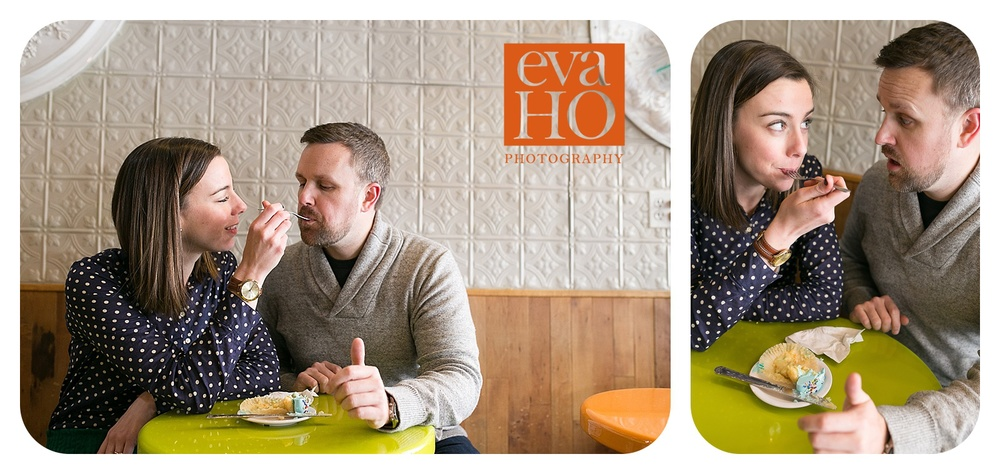 Molly's Cupcake in Lincoln Park Engagement Session