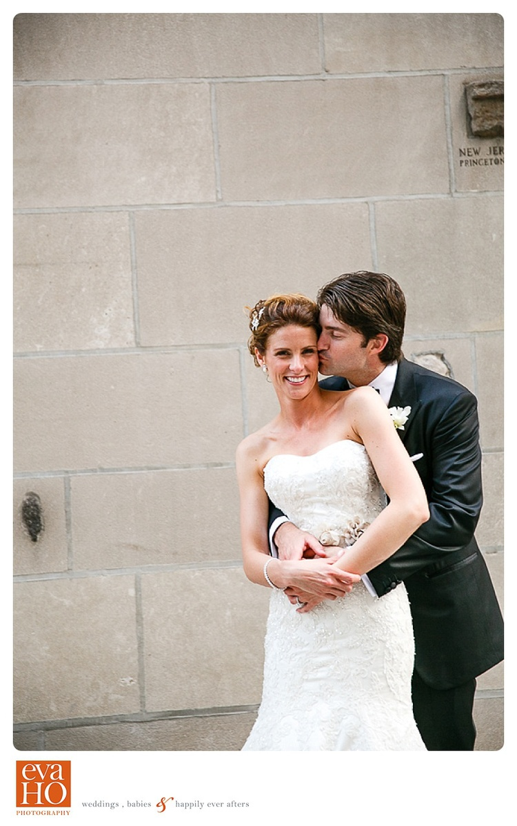Loving newly weds in downtown Chicago just off Michigan Avenue
