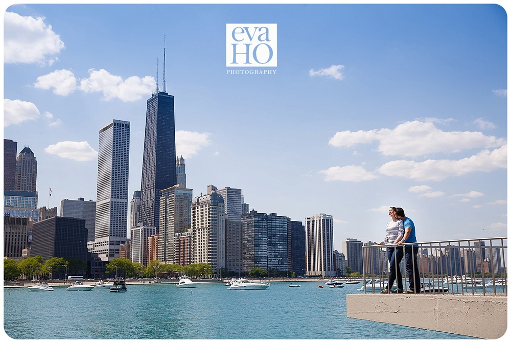 Surprise Proposal by Lake Michigan at Olive Park