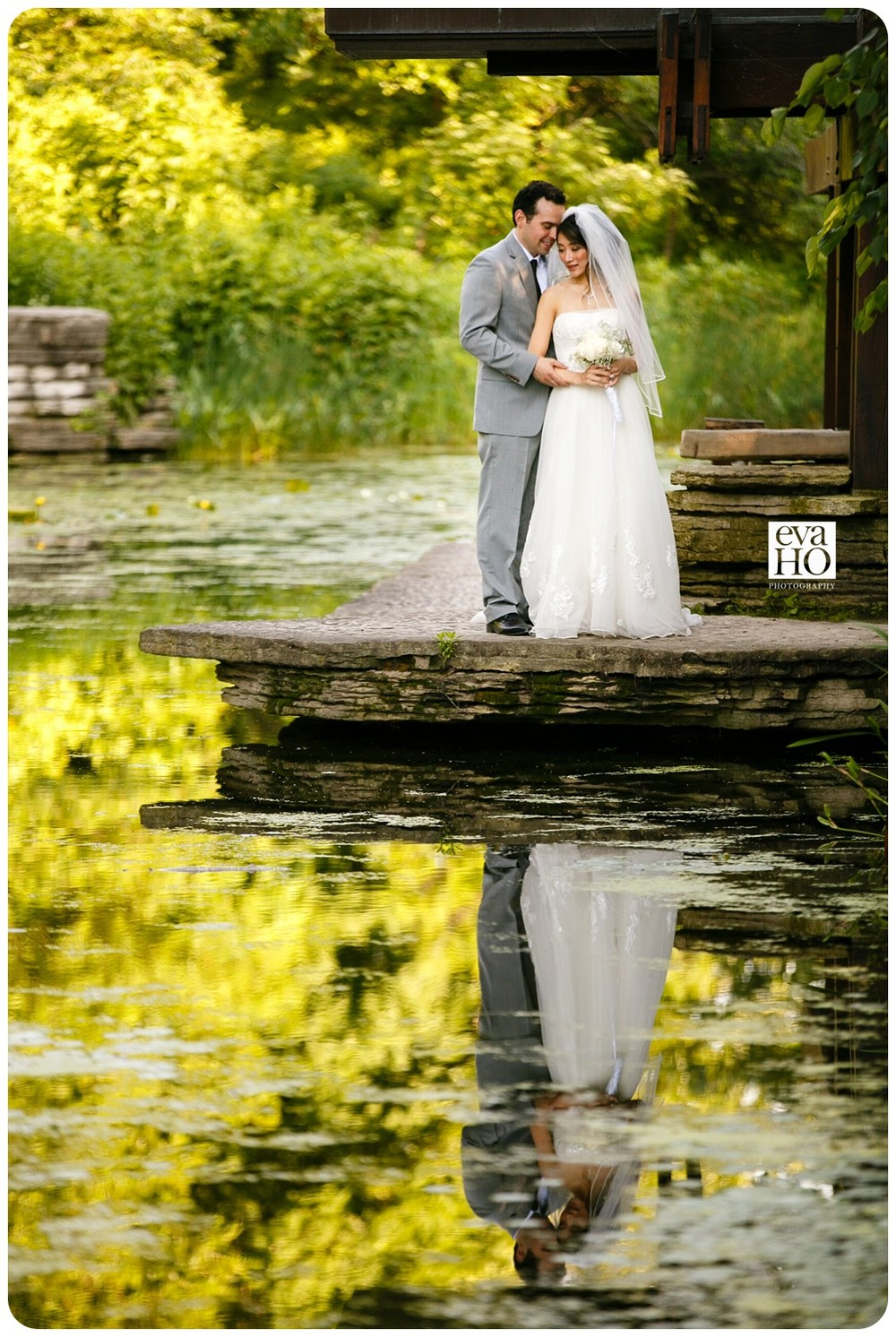 The secluded location of Caldwell Alfred Lily Pond at the heart of Lincoln Park reflects the couple's personality