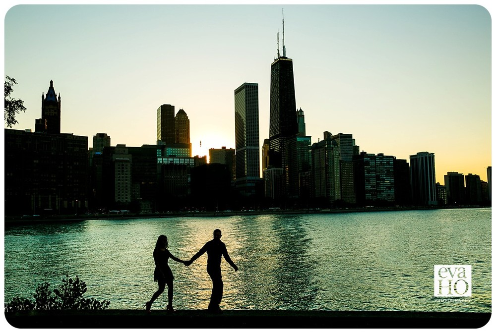 Angelica and Darvin before the Chicago skyline