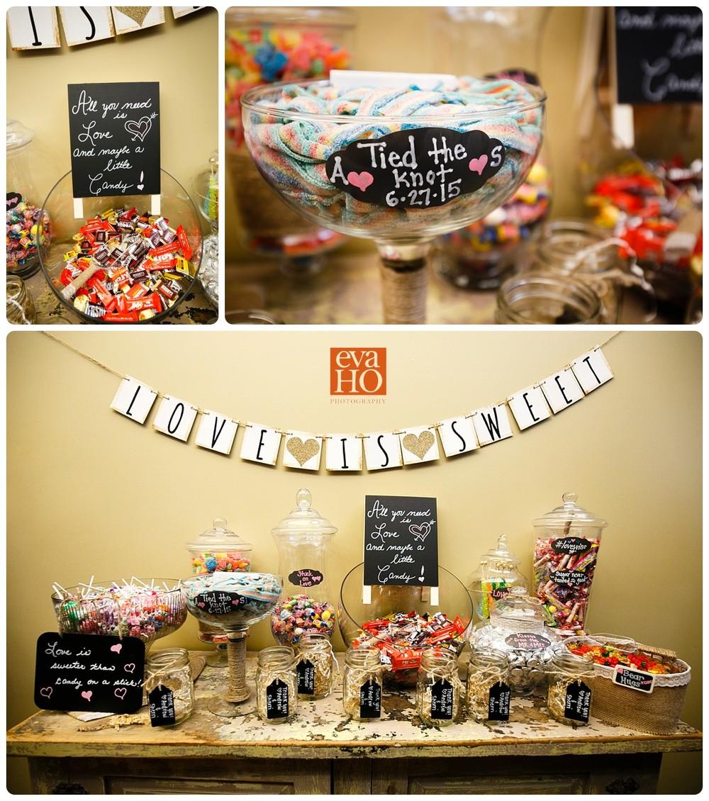 Love is sweet candy buffet