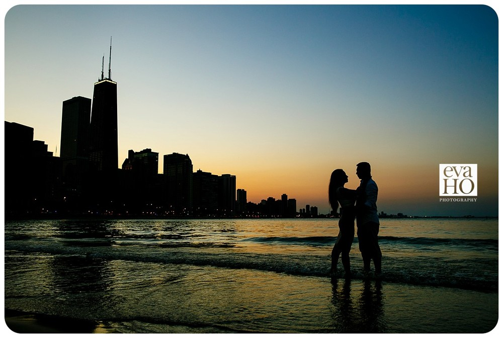 Our sunset engagement session ends when the sun just dips below the horizon