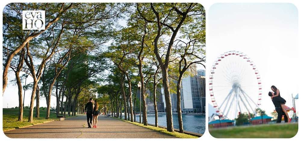 We explored Olive Park, which is located just off Lake Shore Drive and Ohio Street beach.