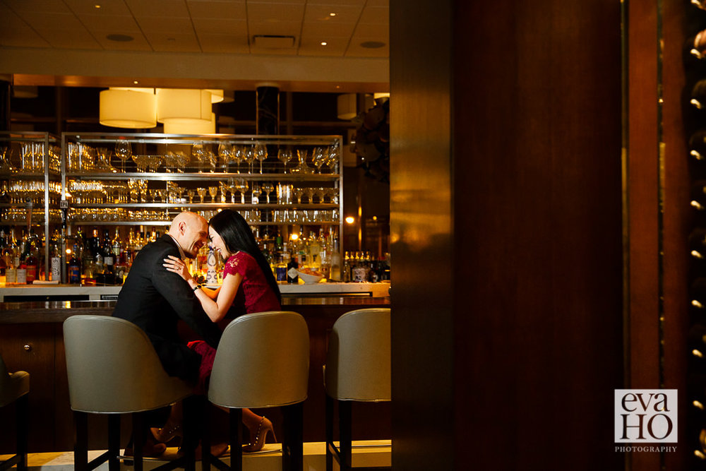 One lives in Alaska, the other lives in Tokyo. These love birds met up in Chicago to dine at the Michelin-starred Spiaggia. Only did she know, he was about to pop the question!