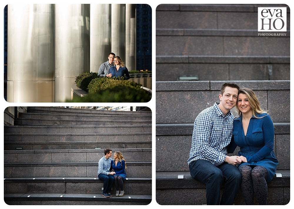 Exploring downtown Chicago with the future bride and groom