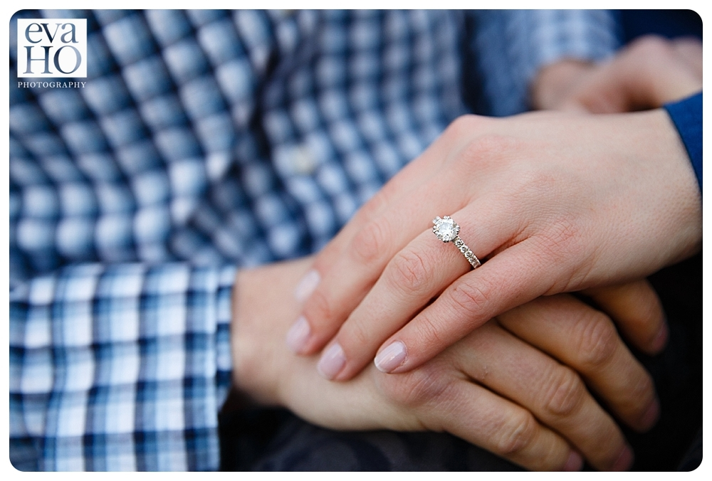 A beautiful close up of an engagement ring for this midwestern bride-to-be
