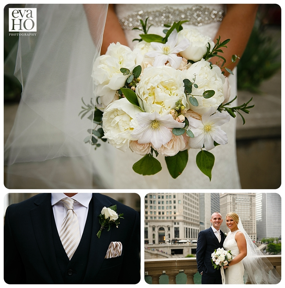 Chicago Downtown with Bride and Groom
