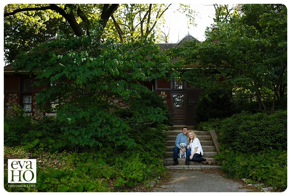 Melisa and Joe in front of their Chicago home.