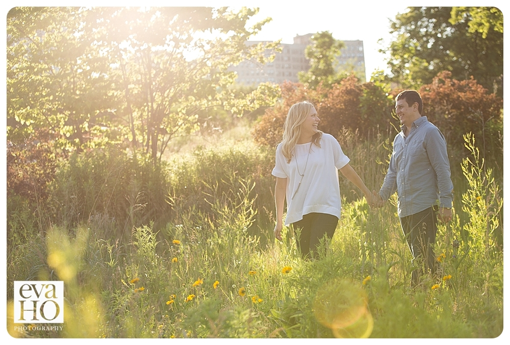 This playful couple had no problem frolicking through the grass in Lincoln Park!