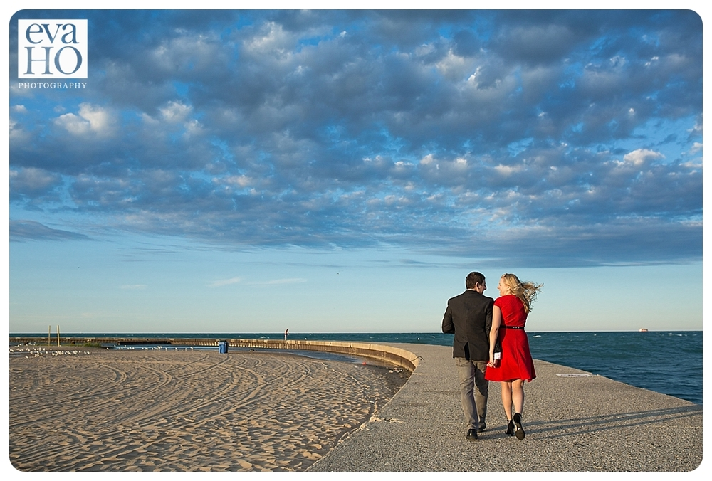 No amount of wind could ruin this engagement session!