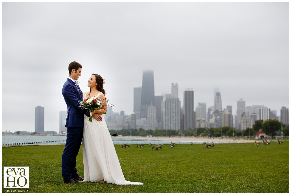 Fullerton Beach Portrait of the bride and groom
