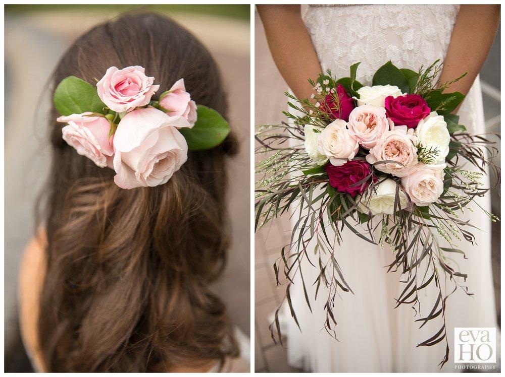 Gorgeous floral wedding details