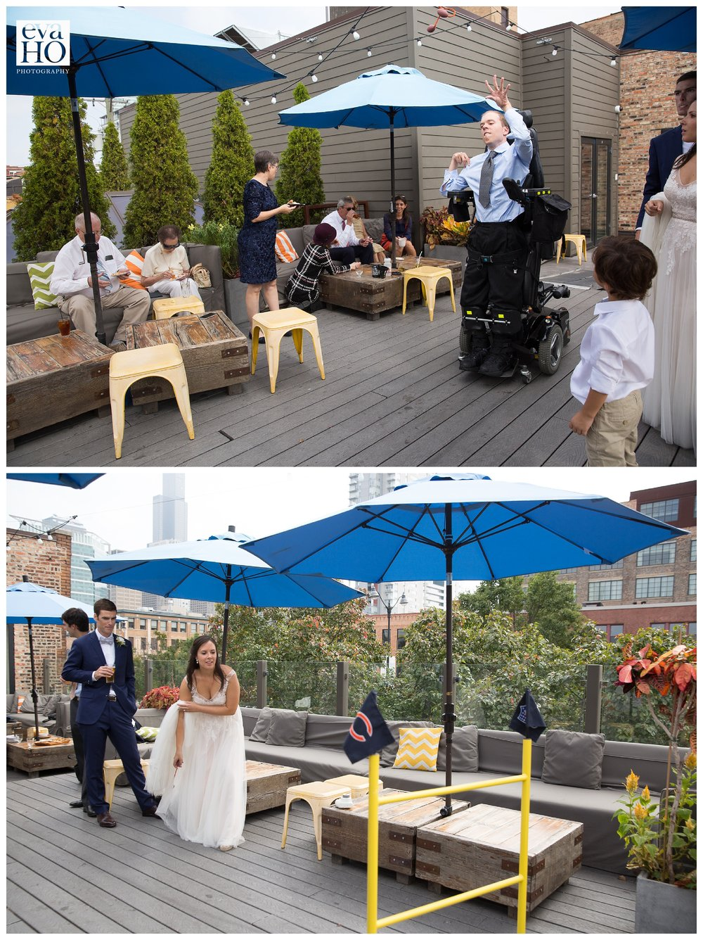 The yard games at the reception were so fun! Everyone was having a blast, super relaxed and carefree!