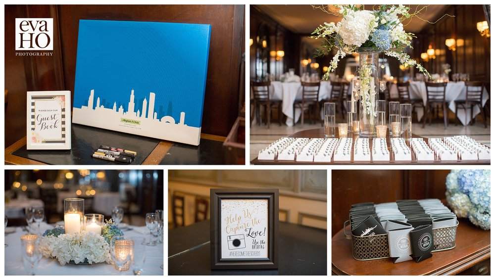 Wedding details...complete with personalized koozies for all the guests!