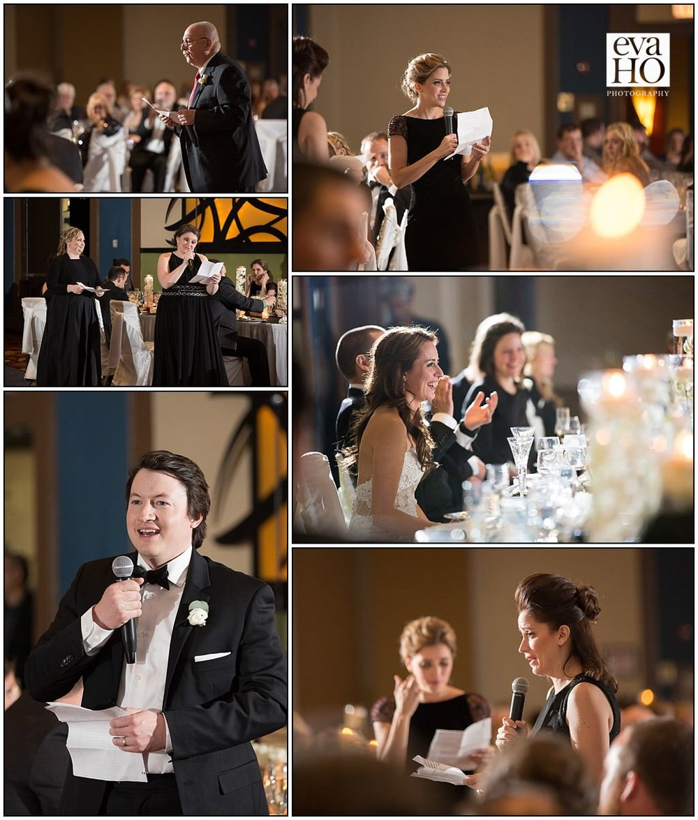 Both family and friends gave toasts at the reception, filled with both laughs and tears! It was so fun to watch the bride and groom