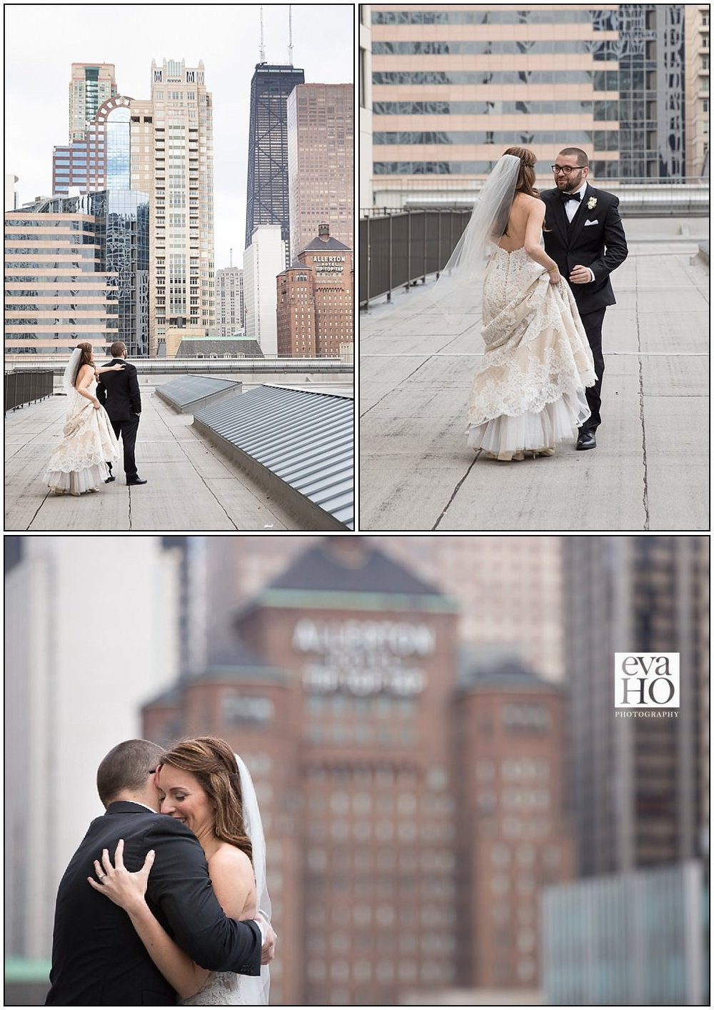 We were lucky enough to have the first look on the terrace of the Marriott. The city provided such a beautiful backdrop for for such a special moment.