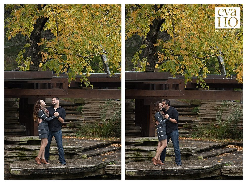 Dancing away at the Lily Pond for this Fall Engagement Session