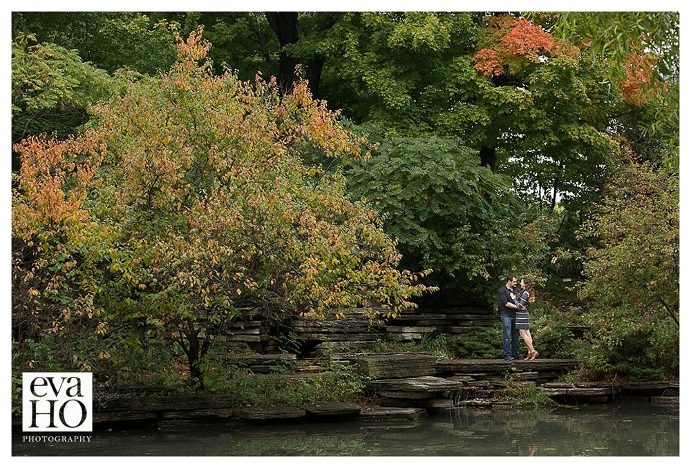 With the leaves changing, the Alfred Caldwell Lily Pond was the perfect backdrop!