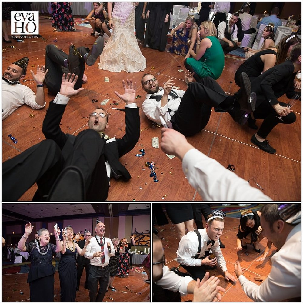The groom and some guests taking a whole new meaning to dropping it low! With drinks in hand, family and friends spent the entire night on the dance floor- it was a spectacular sight to see!