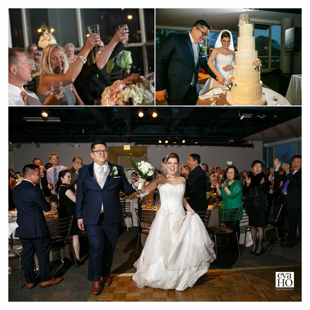 The bride and groom making their grand entrance!