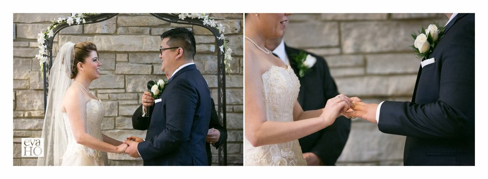 Vows and exchanging of the rings