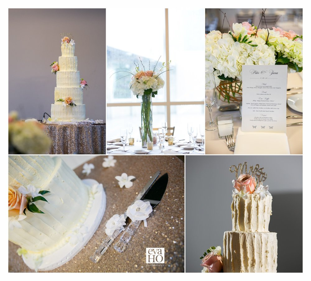 The beautiful and delicious wedding cake!