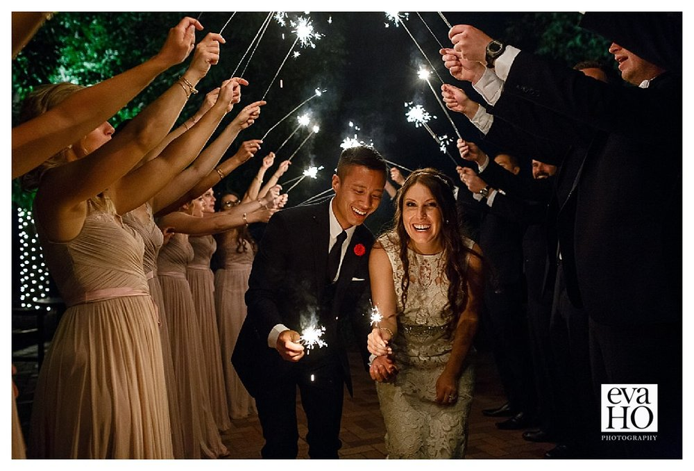 And with that, Kara and Leon's day came to an end. We said goodbye to the couple as they walked through a tunnel of sparklers!