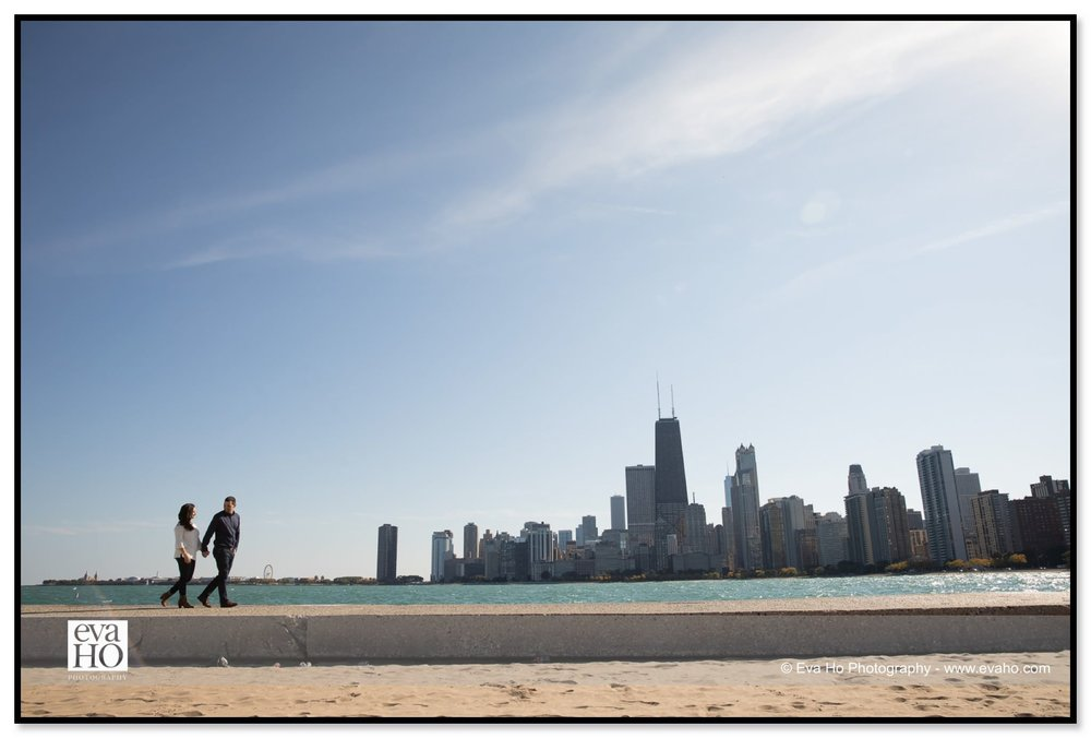North Avenue Beach provides a spectacular Chicago skyline backdrop