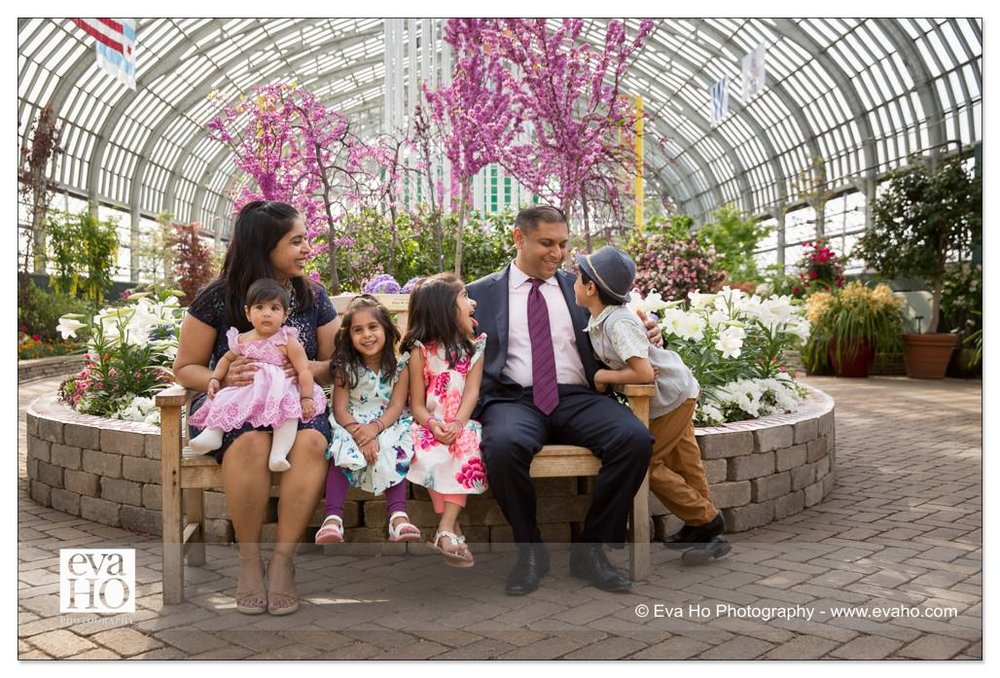 Garfield Park Conservatory provides the perfect backdrop for any kind of family photos all year round.