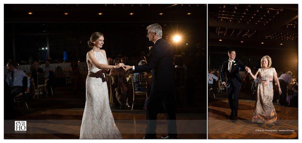 Parent dances during dinner reception at the Hyatt Lodge at McDonald's campus