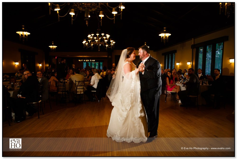 Laura and Bob's first dance in the middle of the dance floor at Kenilworth Club.