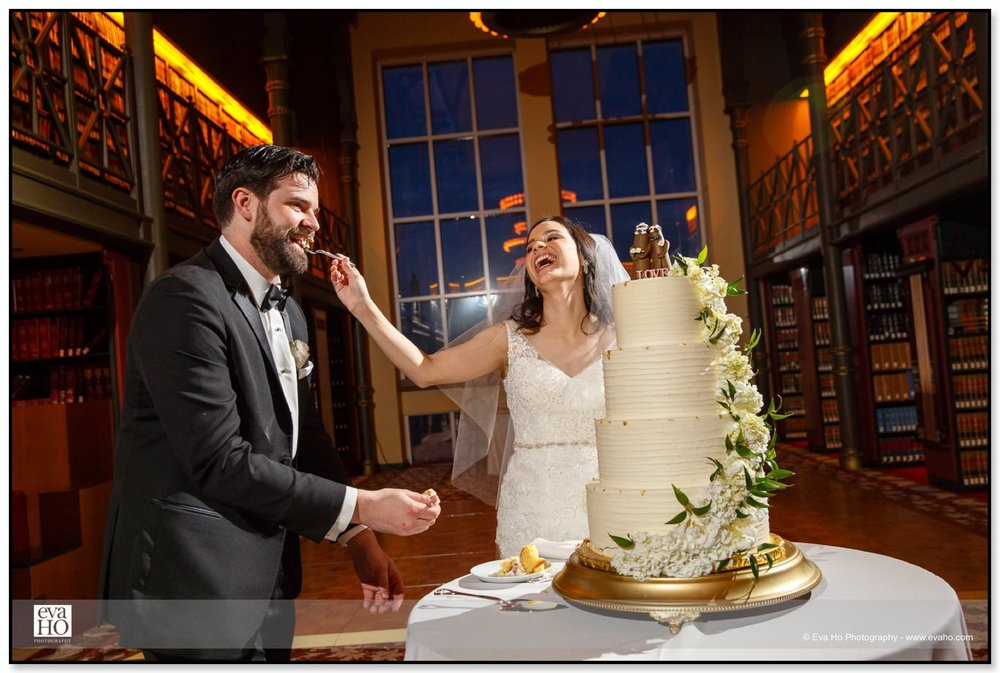 The newlyweds apparently love their four-tier wedding cake