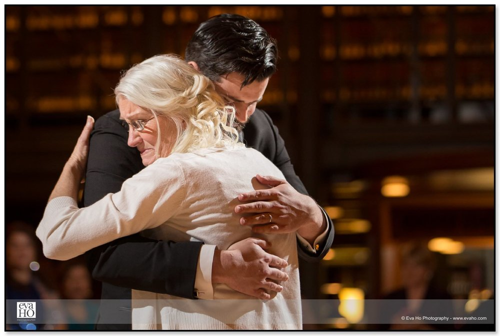 Groom dances with his mom who is a bit emotional