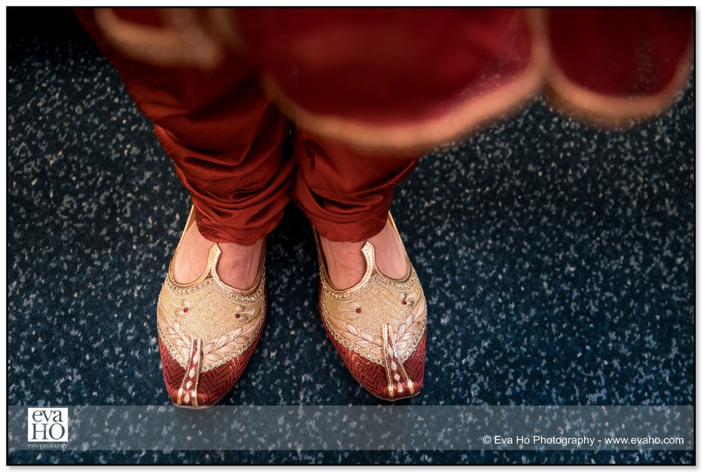 Groom's traditional Indian shoes