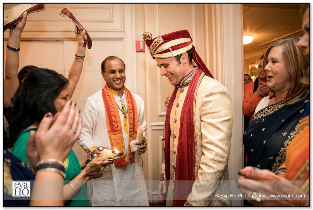 Groom enters the reception during an Indian fusion wedding.
