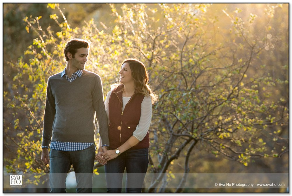 Fall engagement portraits at Chicago's Lincoln Park