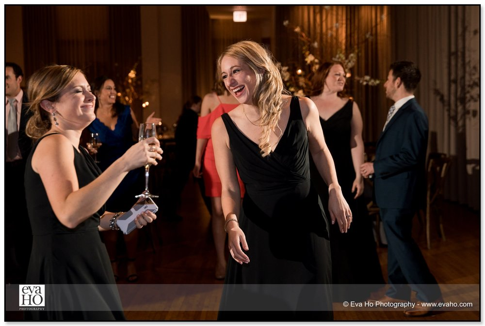 Guests dance and mingle at a Jewish wedding in Chicago