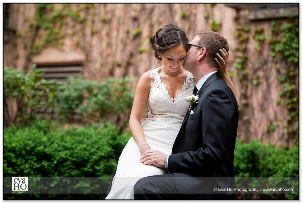 Bride and Groom's wedding portrait session outside using natural light at the Hotel Palomar