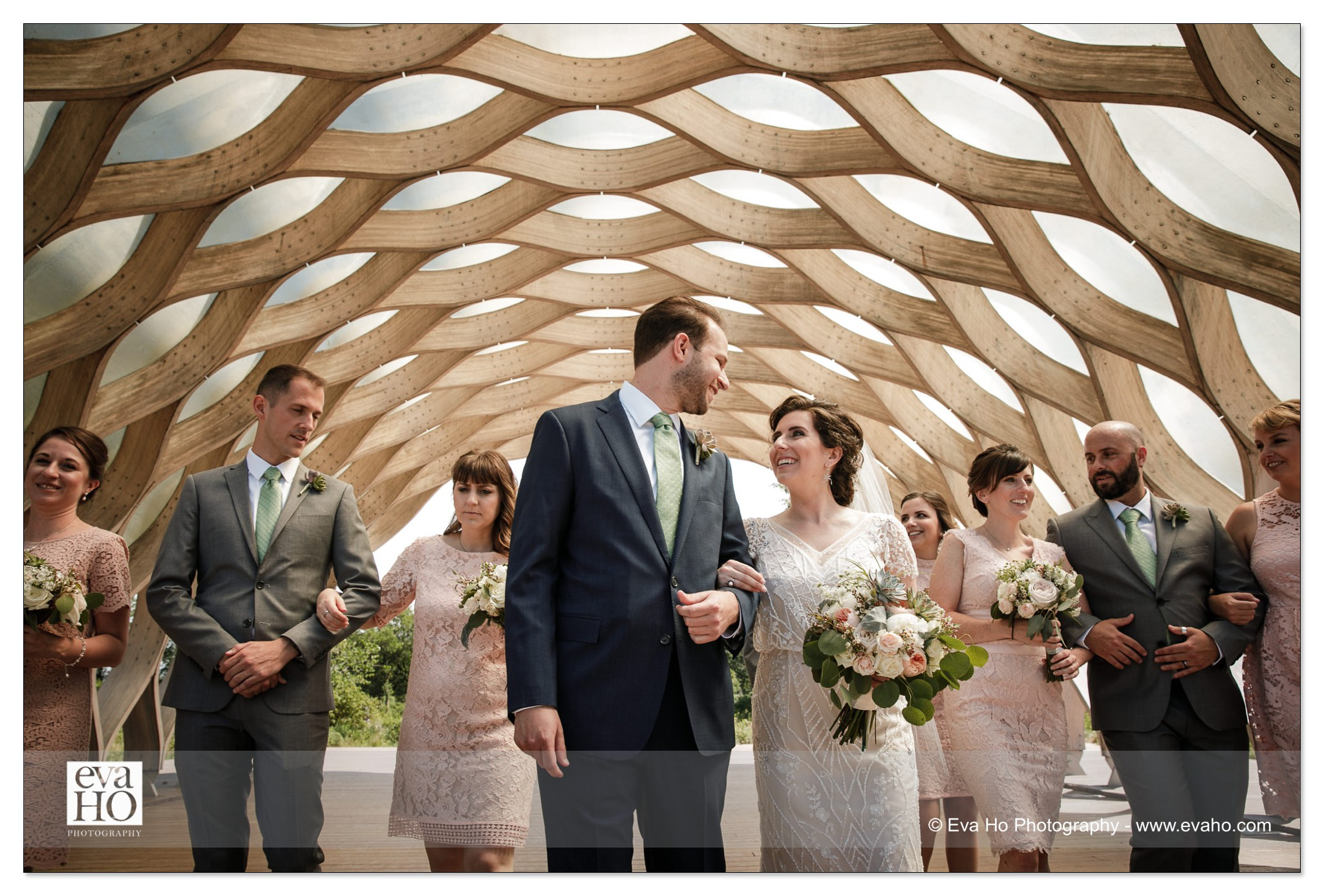Bridal party at the honeycomb