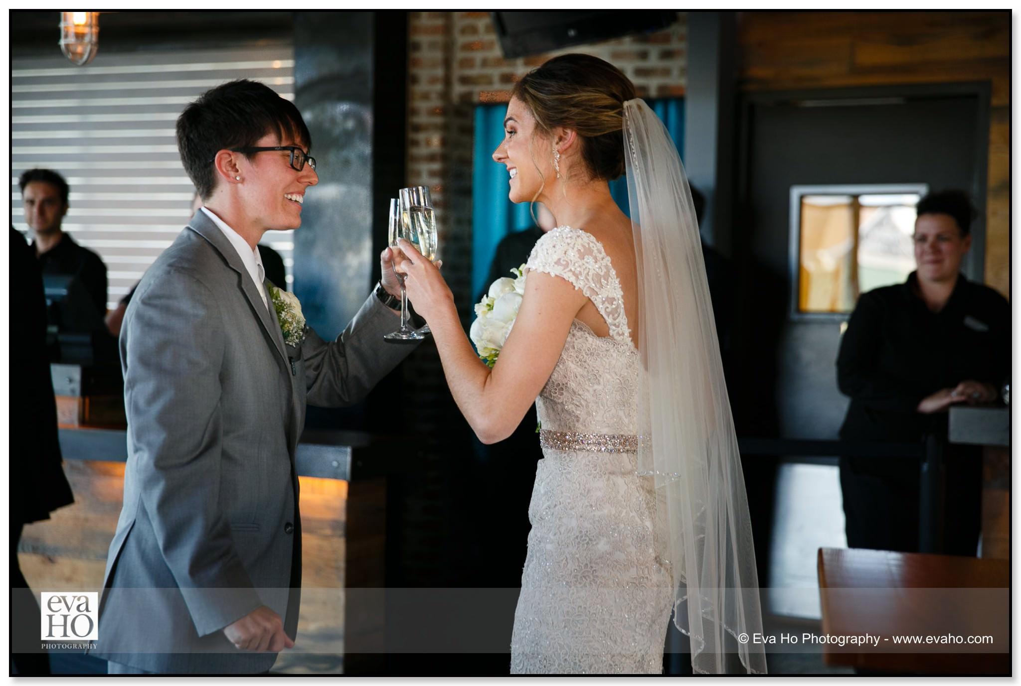 Brides toast