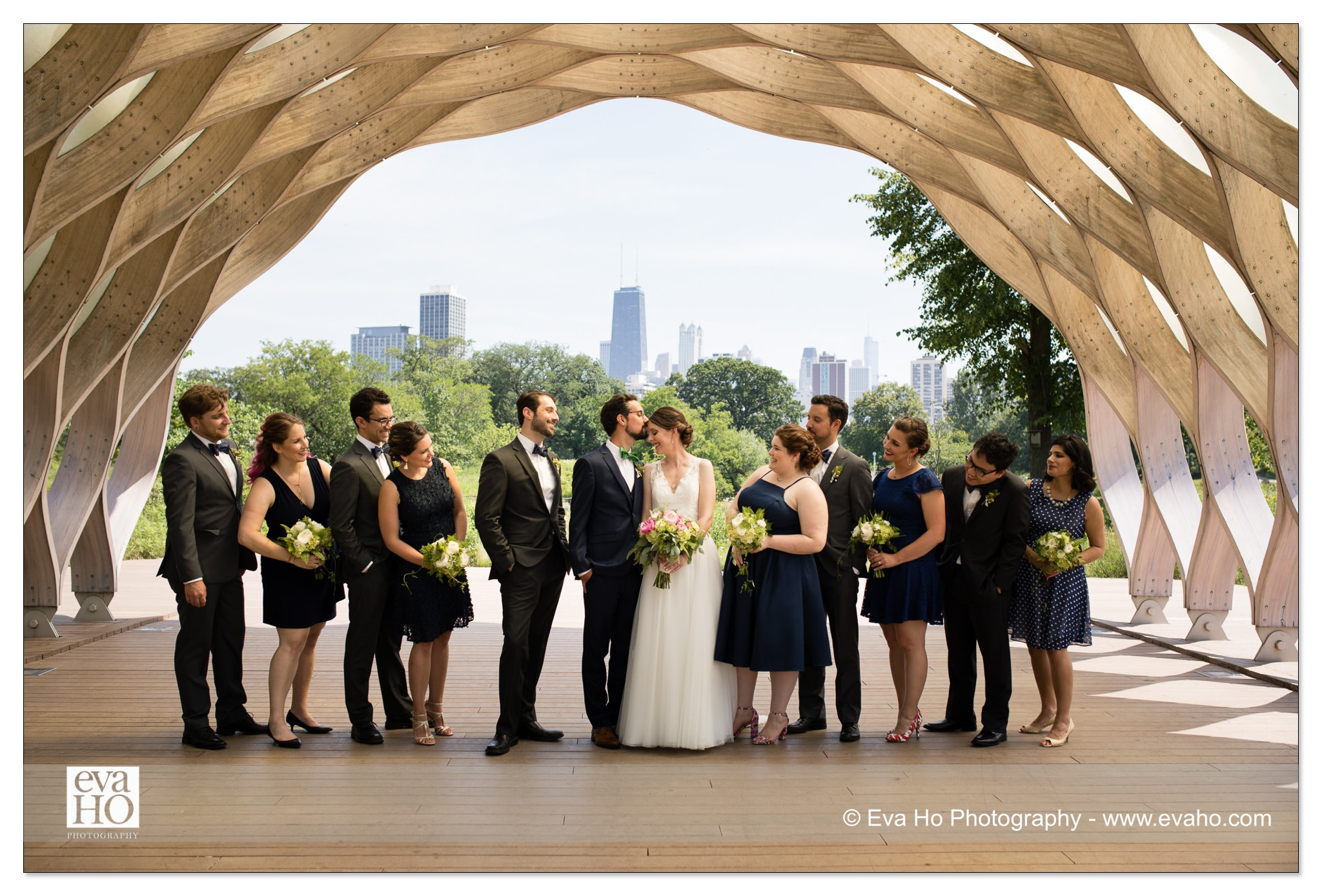 Lincoln Park wedding party