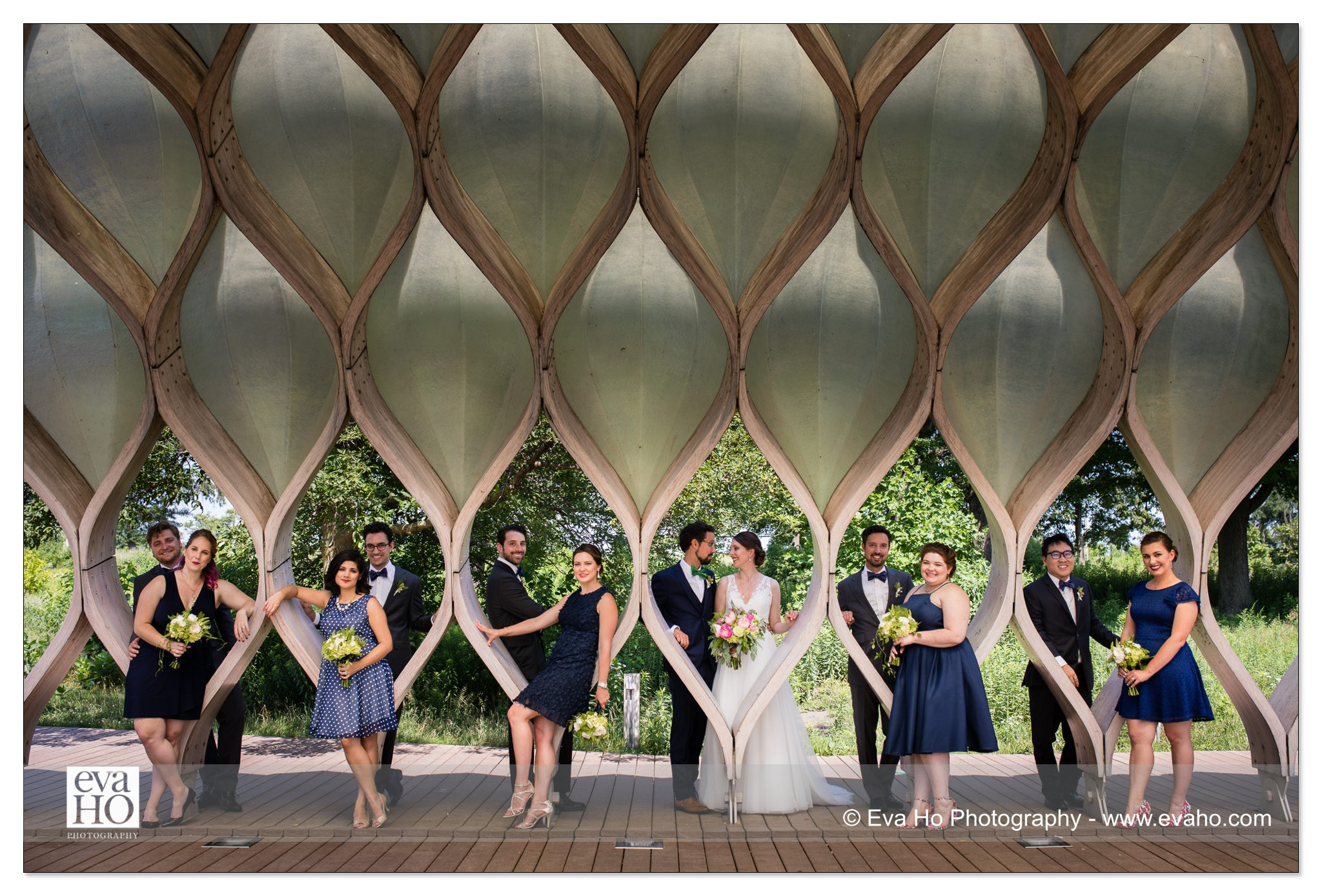 Honeycomb wedding party