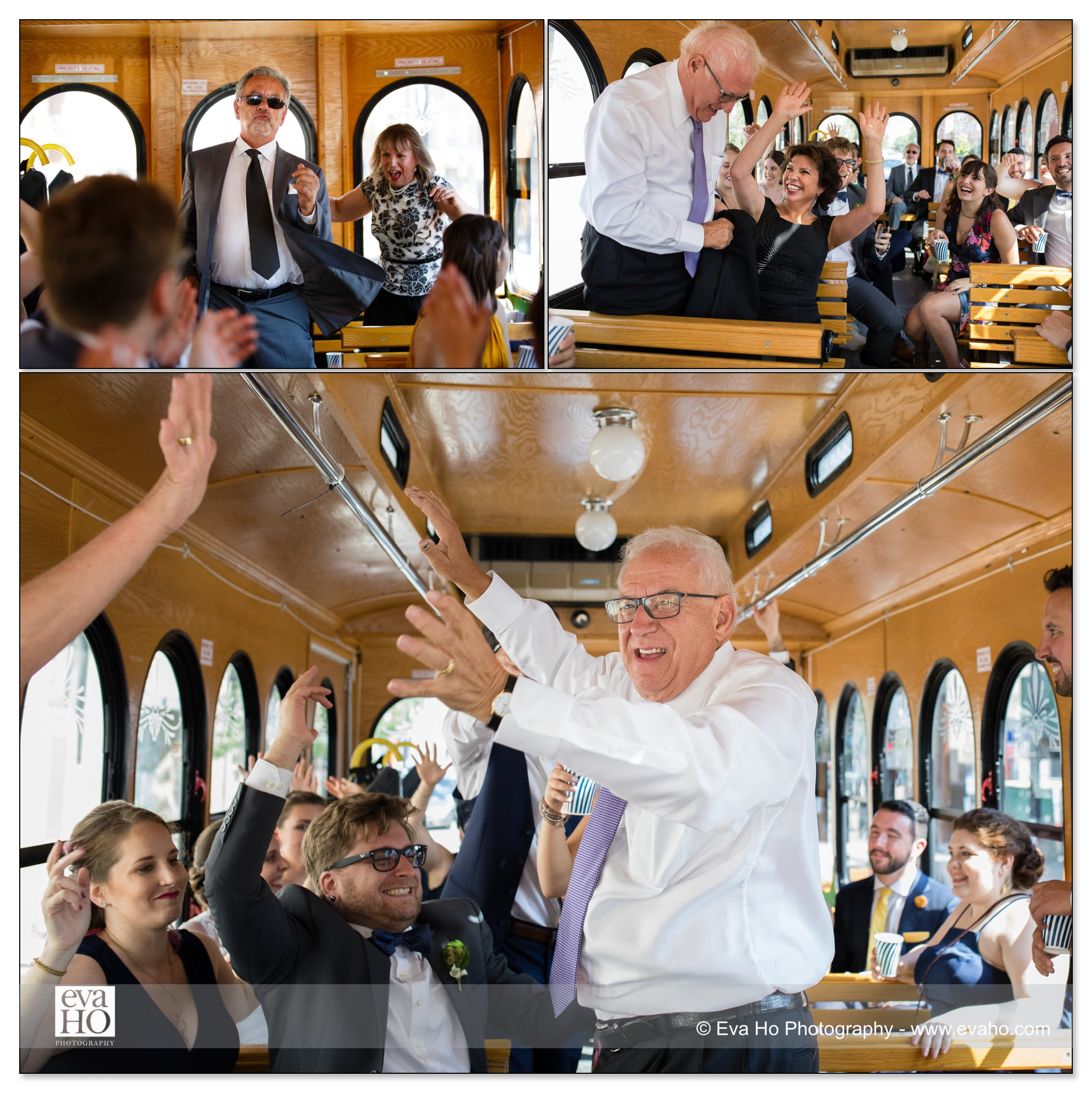 Chicago party bus wedding