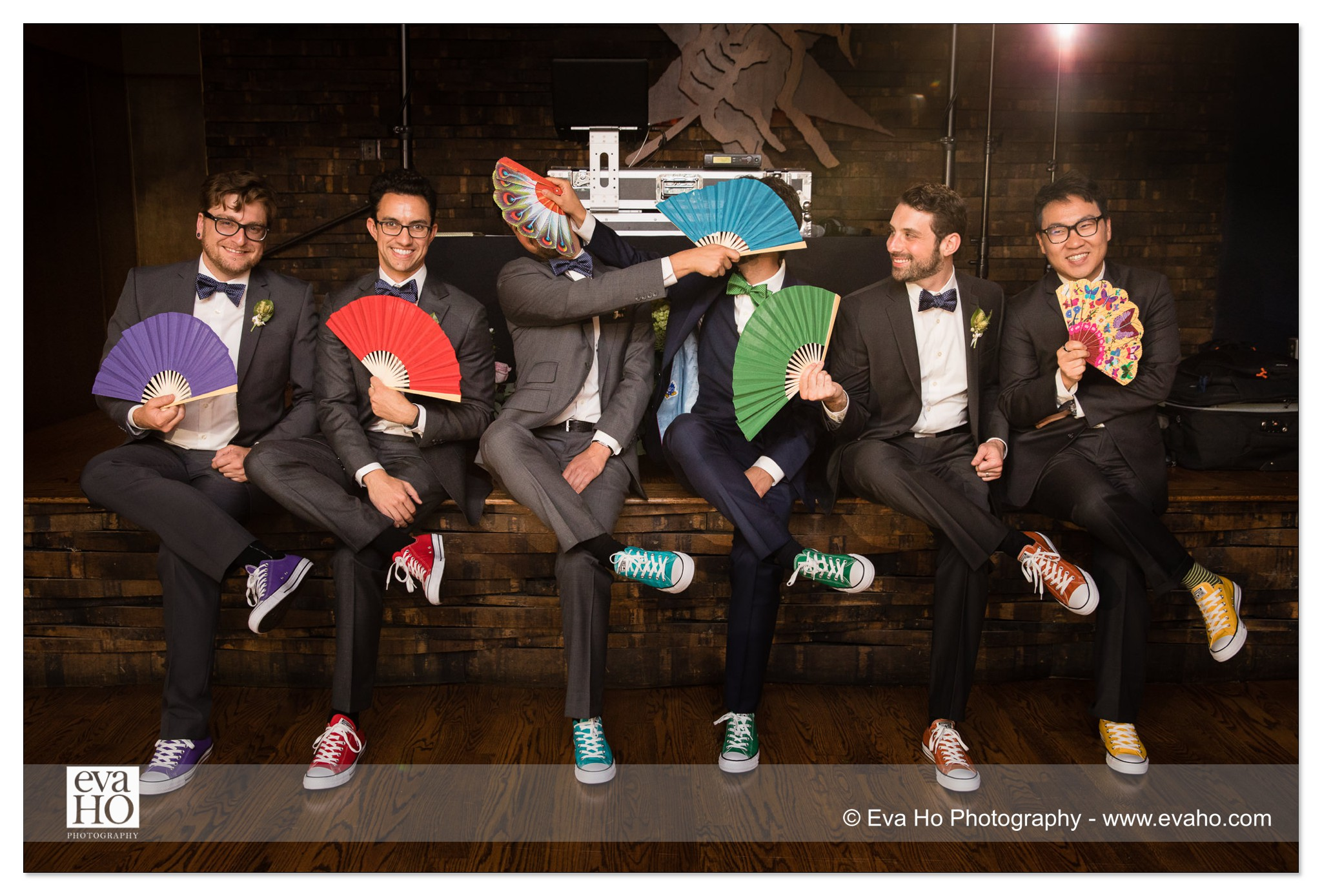 Groomsmen in Converse