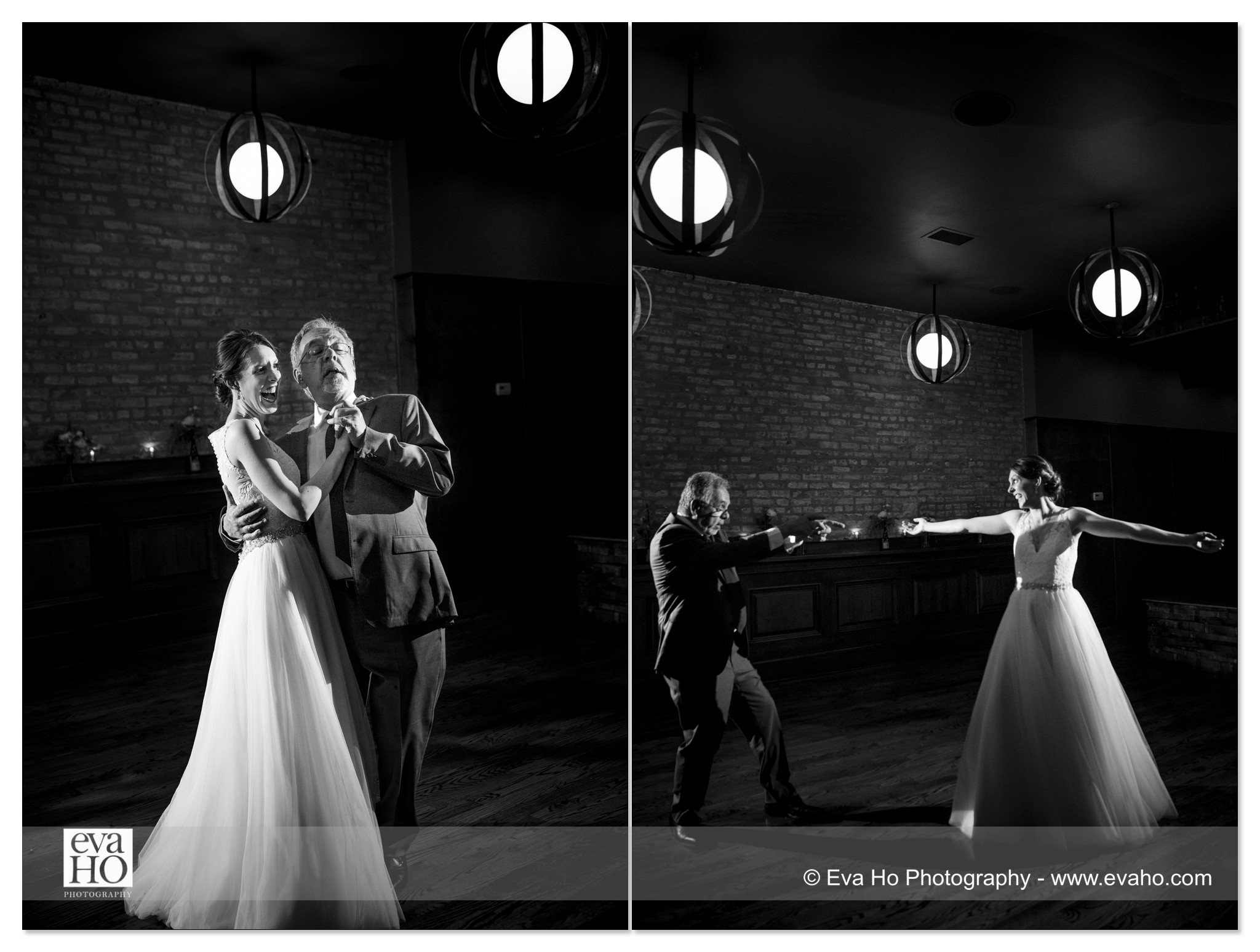 Black & white reception moments