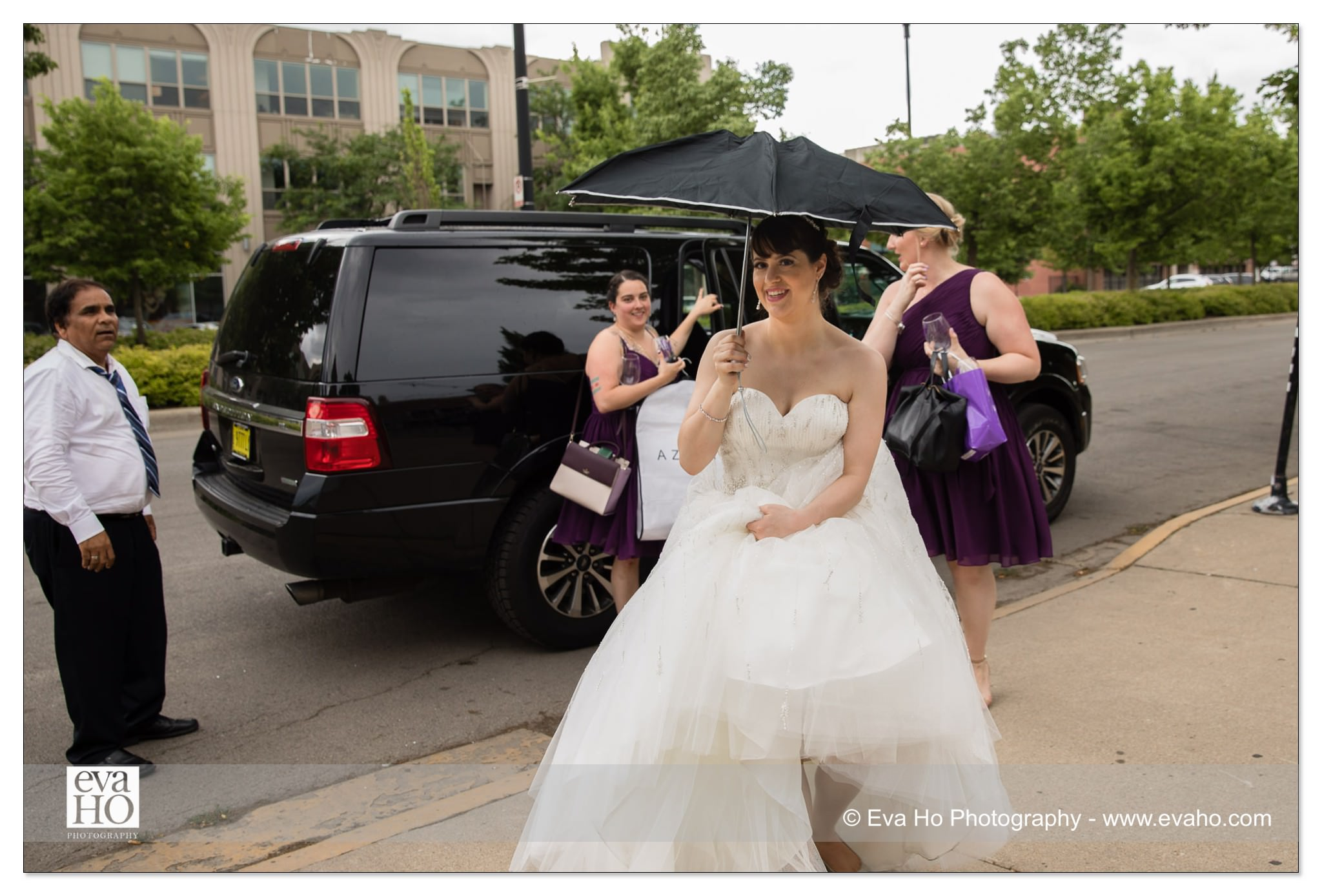 Bride enters reception