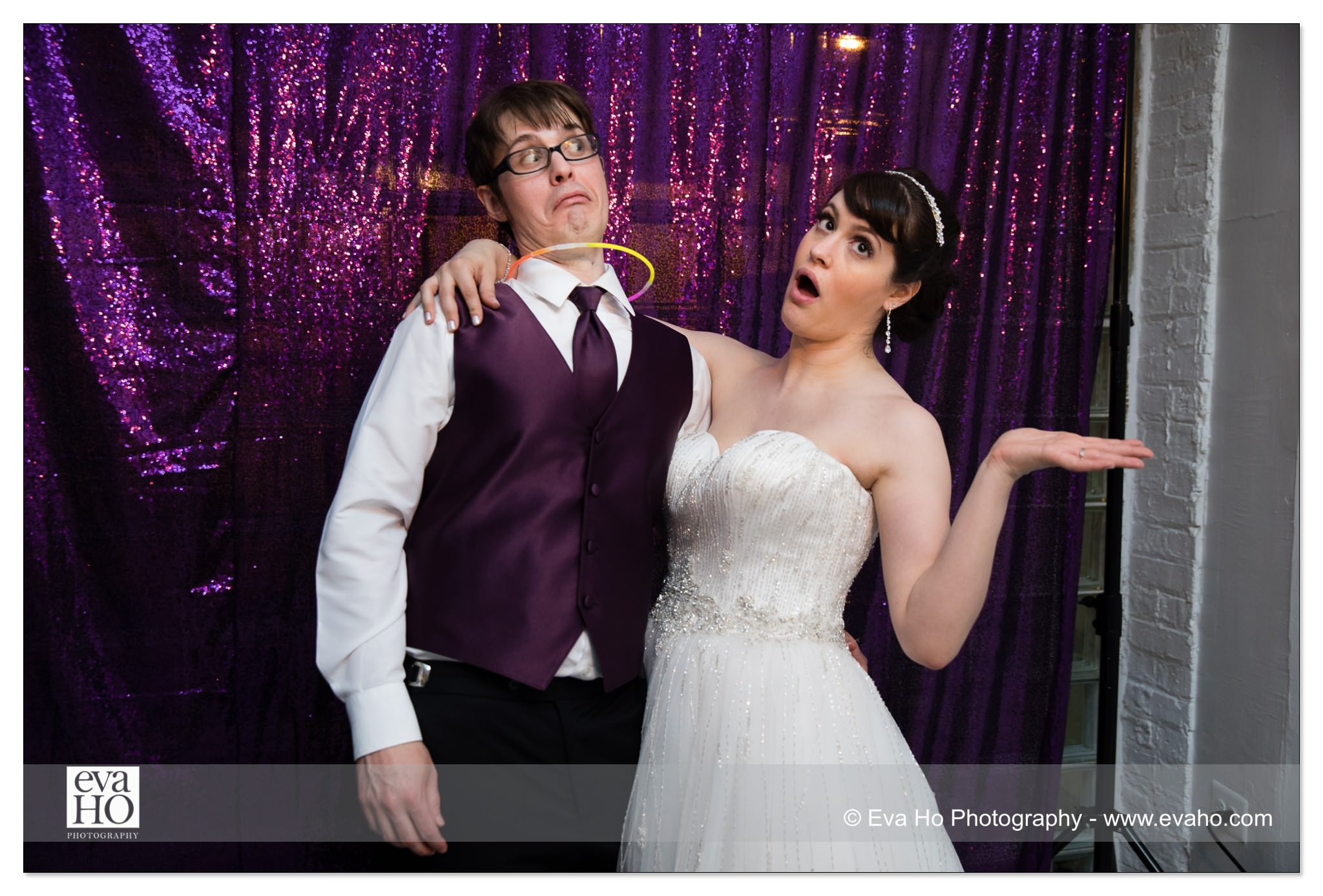 Silly bride & groom